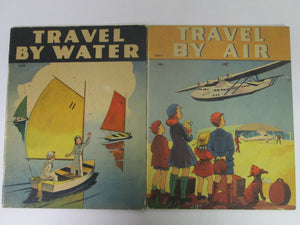 2 Whitman Books Travel By Water (1098) & Travel By Air (1099) 1940 PB