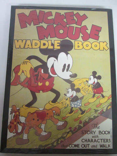 Mickey Mouse Waddle Book The Story Book with Characters that Come Out and Walk w/ Case Disney Sealed HC