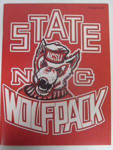 NC State Wolfpack Sticker Fun
