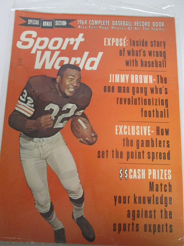 Sport World Magazine 1964 Complete Baseball Record Book Feb 1964