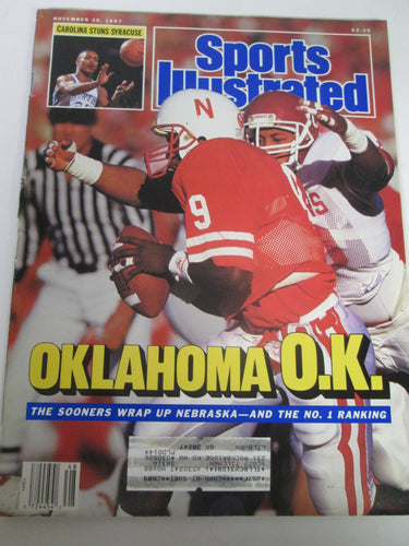 Sports Illustrated Magazine Oklahoma OK Nov 30 1987