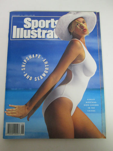 Sports Illustrated Magazine Ashley Montana Goes Ashore in the Calicos Cover Feb 11 1991