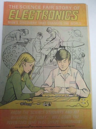 The Science Fair Story of Electronics Comic Book 3rd Edition 1974