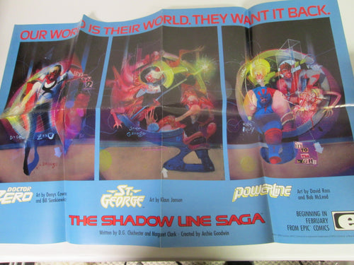 Shadowline Saga Promo Poster from Epic Comics Doctor Zero, St. George & Powerline