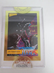 Jim Valentino's Shadow Hawk Sealed Promo Card with Seal of Authenticity # 004901