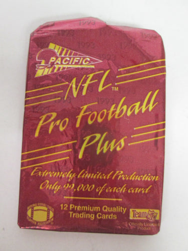 Pacific NFL Pro Football Plus Extremely Limited Production 12 Card Pack 1993