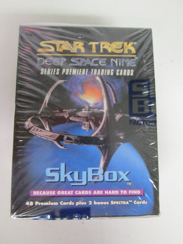 Star Trek Deep Space Nine Series Premiere Trading Cards Skybox Sealed 48 cards plus 2 bonus Spectra Cards 1993