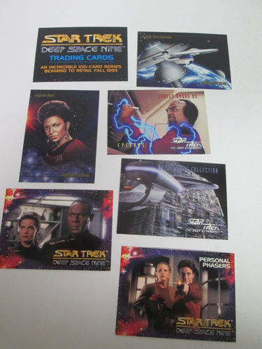 Star Trek Various Set of 7 Promo Cards 1993