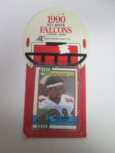 1990 Atlanta Falcons Football Cards Topps Includes Deion Sanders Topps Super Rookie Card