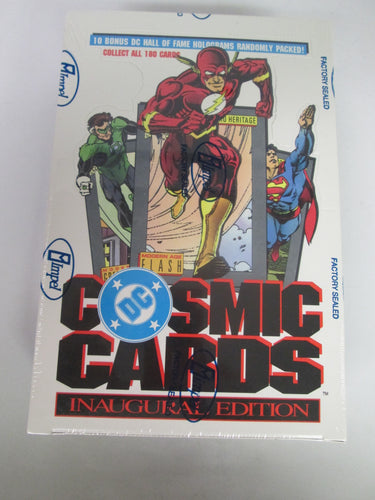 DC Cosmic Cards Inaugural Edition Sealed Box 1991