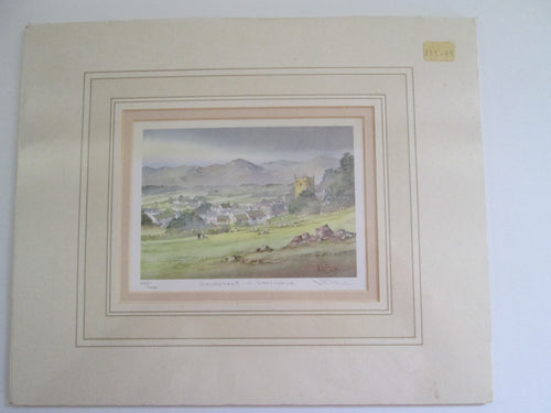 Kenneth Burton Counties of Great Britain Watercolour Print Hawkshead Lancephue 247/600 Signed