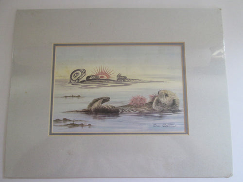 Sue Colemen Urchins Print Sea Otter Signed