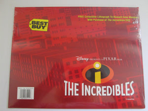 The Incredibles Collectible Lithograph Disney/Pixar Sealed