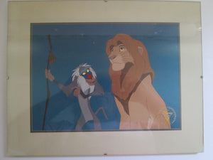 Lion King Framed Disney Store Lithograph 1995