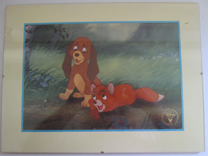 Fox & the Hound Framed Disney Store Lithograph 1994