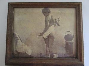 Bathing Woman Photograph Framed