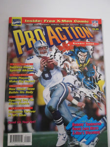 Pro Action Magazine Set #1-4 with Comic and Cards 1994