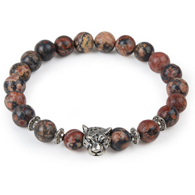 Leopard Tiger Eye Lion Head Bracelets Collection