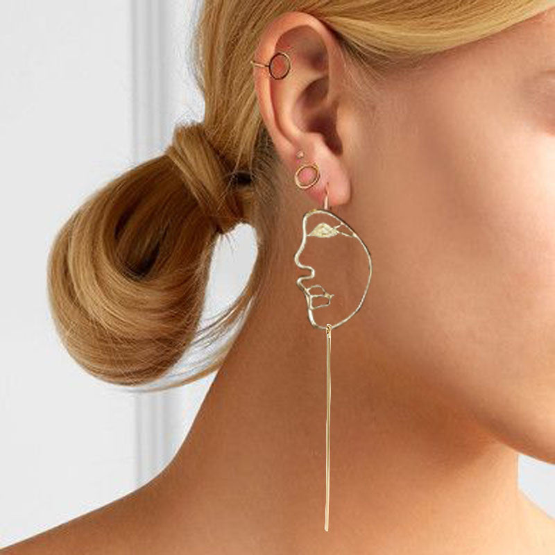 Face Statement Dangle Earring