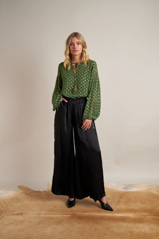 Gianna Lurex Blouse Green
