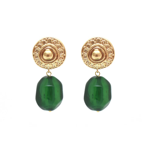 Bling Bar Helen Earrings Green