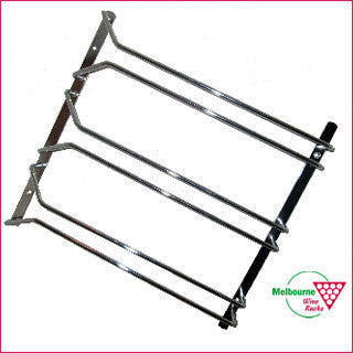 Glass Rack - 3 prong - 34cm long - TOP mounted.