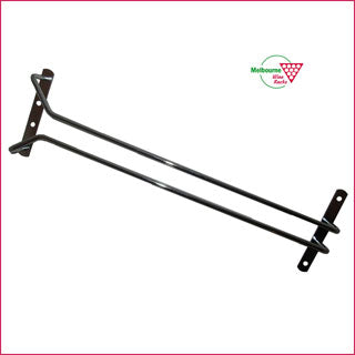 Glass Rack - single - 40cms long - TOP mounted.