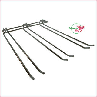 Glass Rack - 3 prong - 40cm long - TOP mounted.