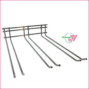 Glass Rack - 3 prong - 40cm long - WALL mounted.
