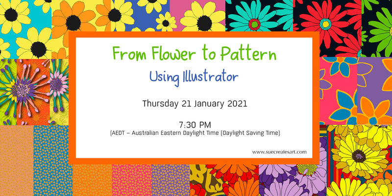From Flower to Pattern - using Adobe Illustrator