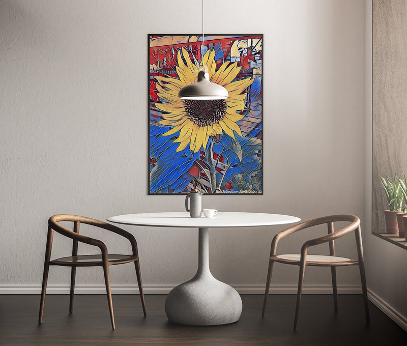 Golden Sunflower Giclee Print