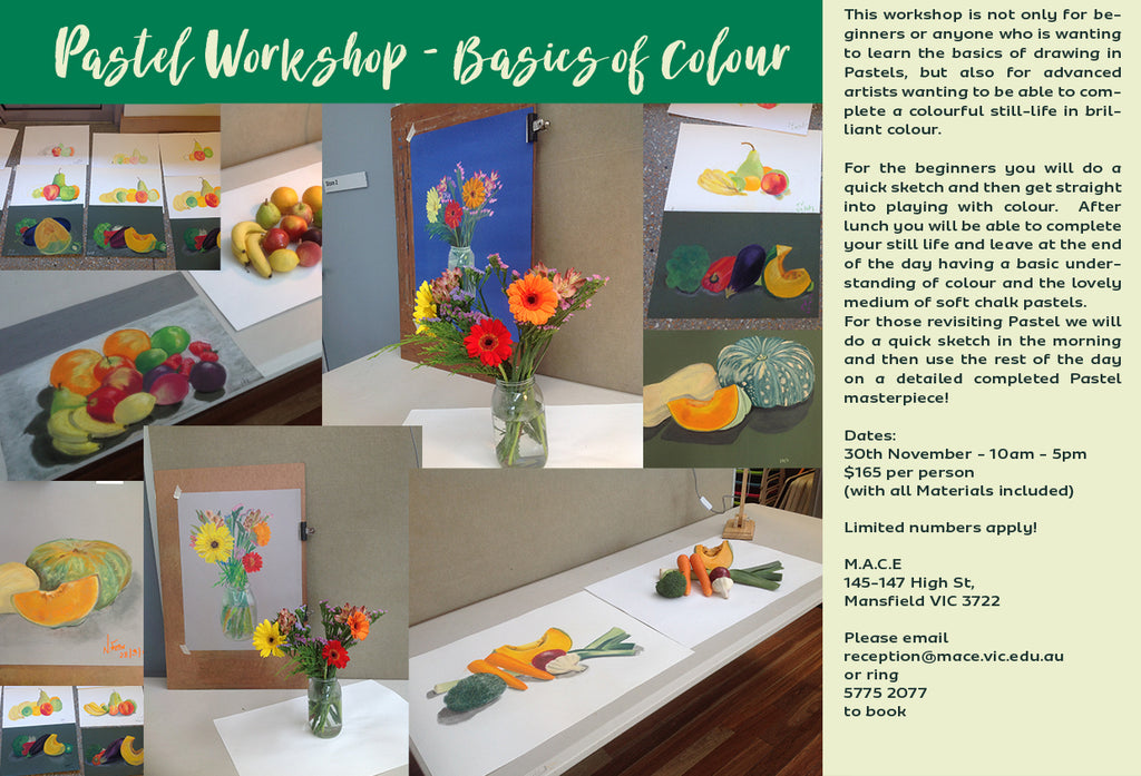 Pastel Workshop at MACE in Mansfield - SOLD OUT