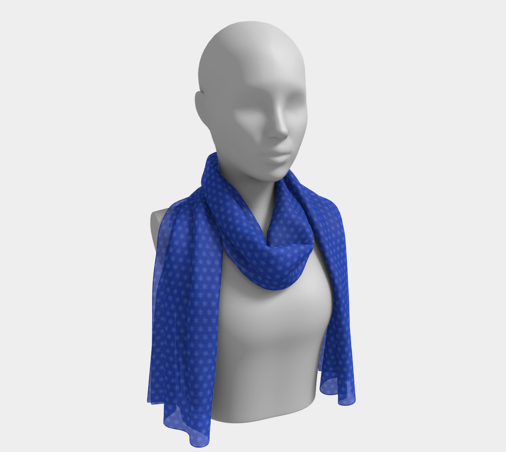 SHS Boutique The Blues Silk Scarf - long