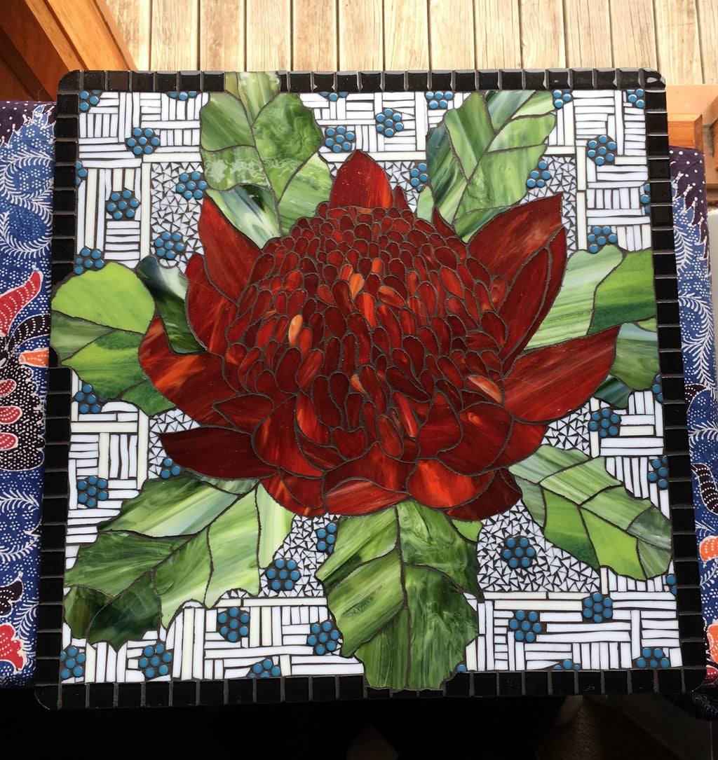 Waratah with Mint Bushes - SOLD
