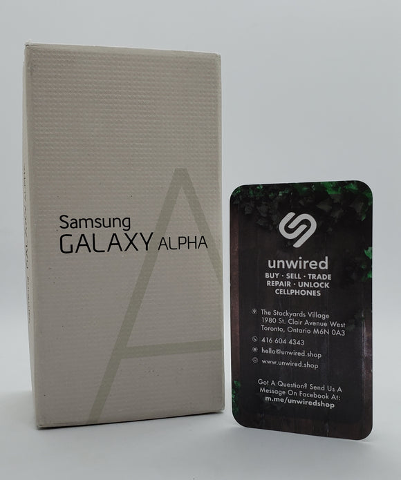 Samsung Galaxy Alpha, Charcoal Black (32GB)
