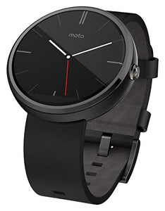 Motorola Moto 360, Black Leather