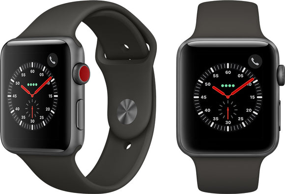 Apple Watch Series 3, Space Gray (GPS + Cellular) - 38MM - Unwired