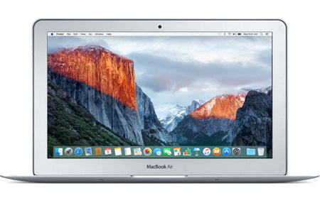 Apple MacBook Air / 11.6-Inch / 1.6GHz Intel Core i5 (Early 2015) / A1465 / 128GB SSD / 4GB RAM Memory / MacOS Mojave - Unwired