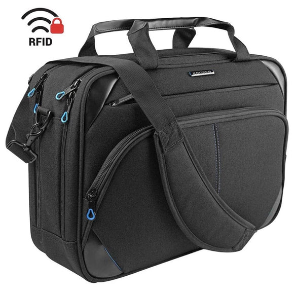 KROSER Laptop Bag 15.6 Inch Briefcase Messenger Bag - Water Repellent Computer Case Shoulder Bag - Unwired Solutions Inc