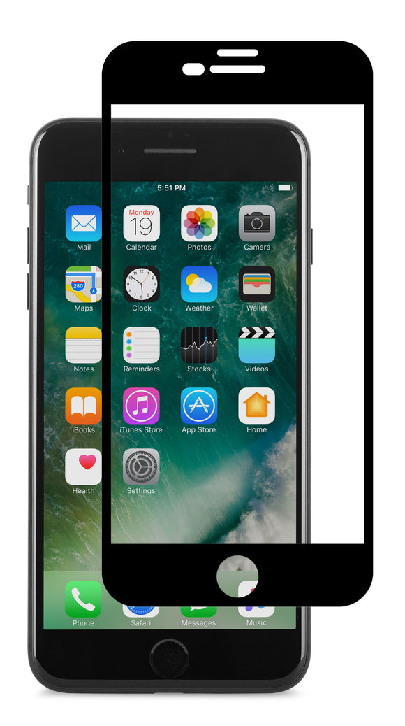 IonGlass iPhone 8 Plus/7 Plus Black - Unwired Solutions Inc