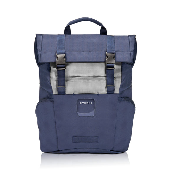 ContemPRO Roll Top Laptop Backpack up to 15.6in Navy - Unwired