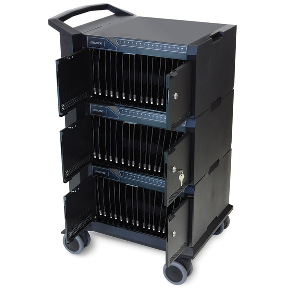 Tablet Management Cart (48) w/ ISI Black