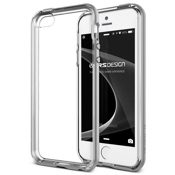 Crystal Bumper iPhone 5/5s/SE Silver - Unwired Solutions Inc