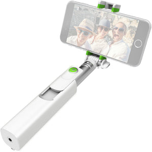 MiGo Mini Selfie Stick with Remote Shutter White - Unwired