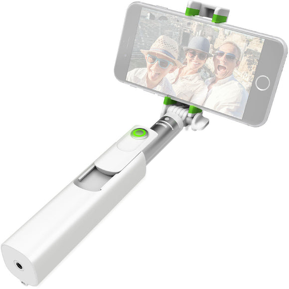 MiGo Mini Selfie Stick with Remote Shutter White
