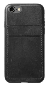 Leather Credit Card Case iPhone 42954 Gray - Unwired Solutions Inc
