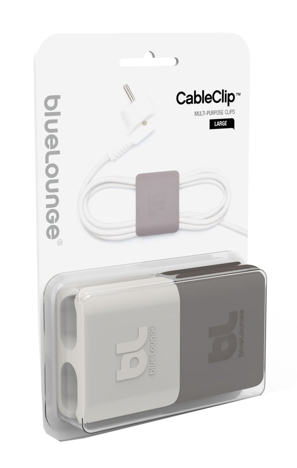 CableClip Large Light Grey/Dark Grey - Unwired