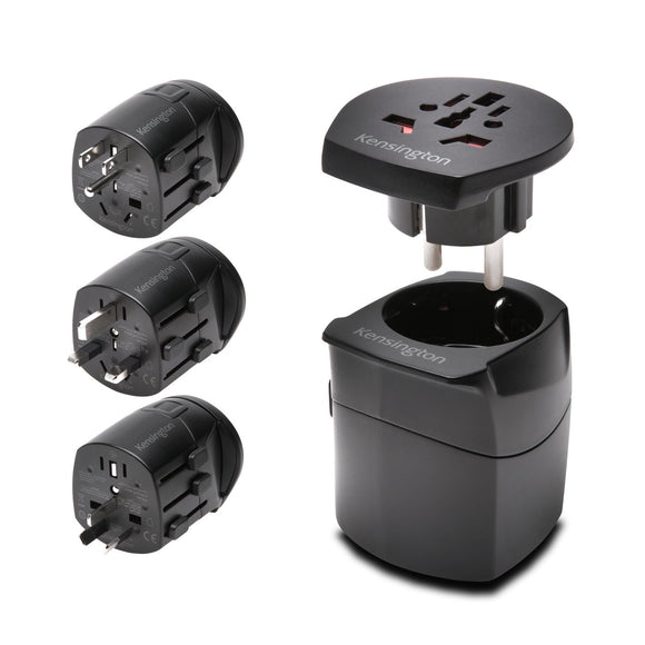 International Travel Adapter Grounded (3-Prong) Black - Unwired