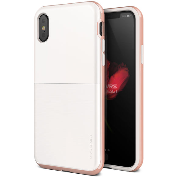 High Pro Shield iPhone X White/Rose Gold - Unwired Solutions Inc