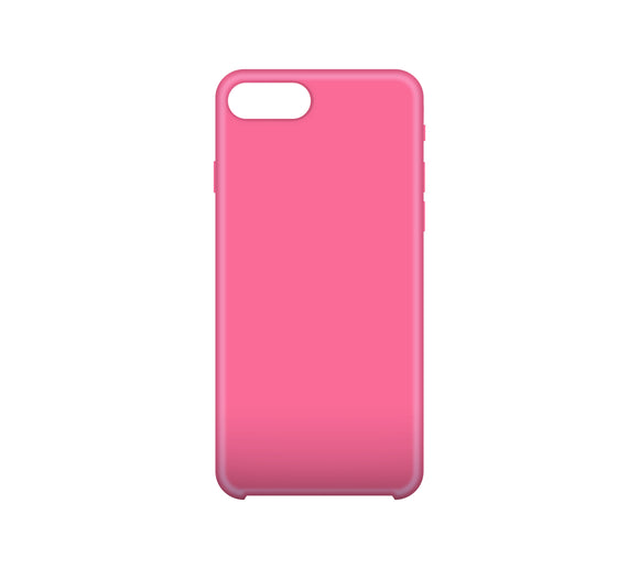 Solid Gel Skin iPhone 8 Plus/7 Plus Pink - Unwired Solutions Inc
